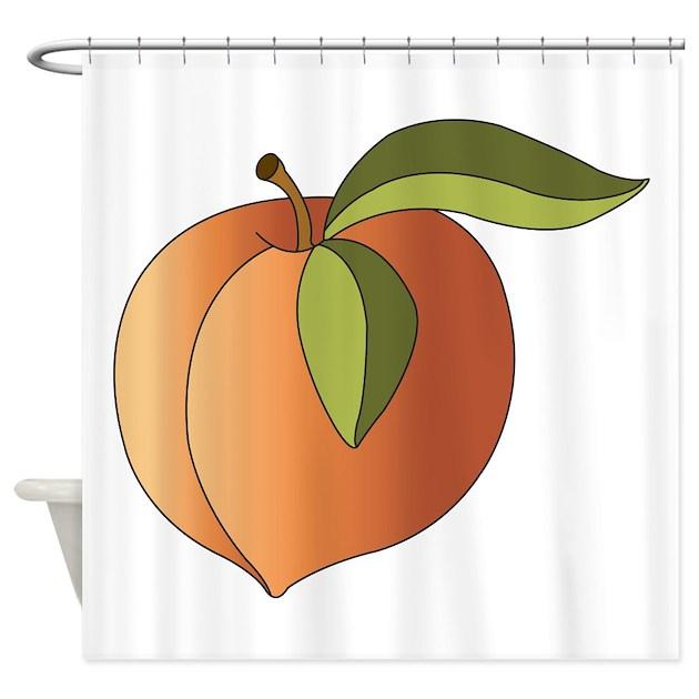 Peach Shower Curtain By Hopscotch1