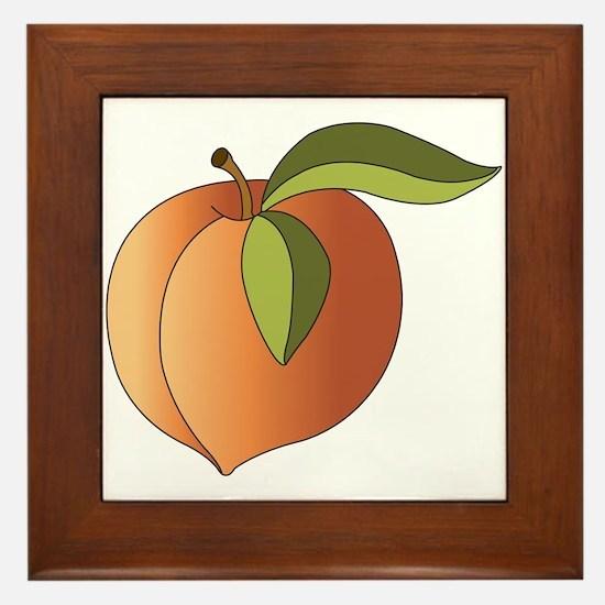 Peach Framed Tile