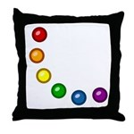 Rainbow Baubles Throw Pillow