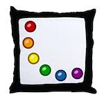 Rainbow Baubles Throw Pillow