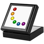 Rainbow Baubles Keepsake Box