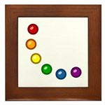 Rainbow Baubles Framed Tile