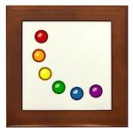 Rainbow Baubles Framed Tile