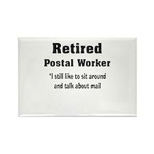 Retired Postal Worker Rectangle Magnet