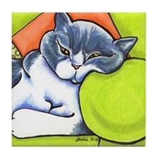 British Shorthair Off-Leash Art™ Tile Coaster