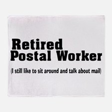 Retired Postal Worker Throw Blanket