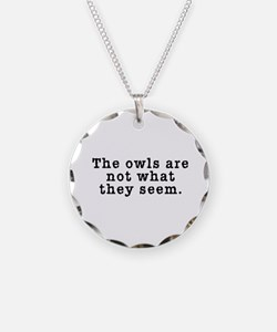 Classic Owls Riddle - Twin Peaks Necklace Circle C