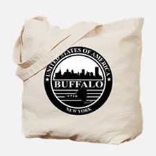 Buffalo logo black and white Tote Bag