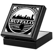 Buffalo logo black and white Keepsake Box