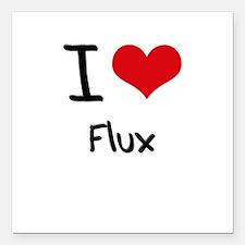 "I Love Flux Square Car Magnet 3"" x 3"""
