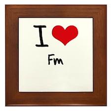 I Love Fm Framed Tile