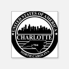 Charlotte logo black and white Sticker