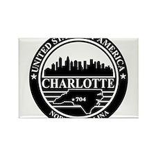 Charlotte logo black and white Rectangle Magnet