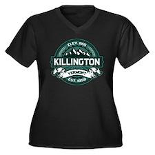 "Killington ""Vermont Green"" Women's Plus Size V-Nec"