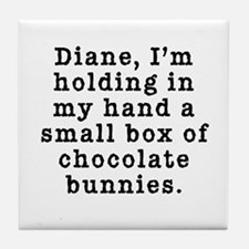 Twin Peaks Chocolate Bunnies Tile Coaster