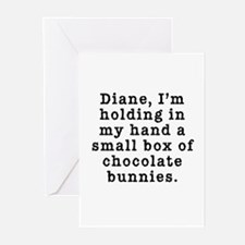 Twin Peaks Chocolate Bunnies Greeting Cards (Pk of