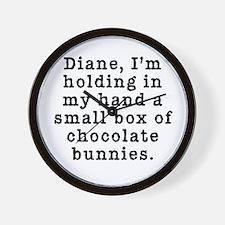 Twin Peaks Chocolate Bunnies Wall Clock