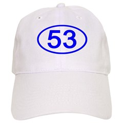 Number 53 Oval Baseball Cap