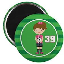 Soccer Sports Number 39 Magnet