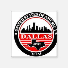 Dallas logo black and red Sticker