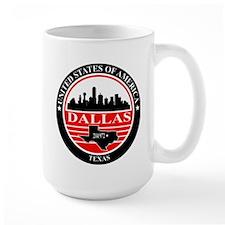 Dallas logo black and red Mug