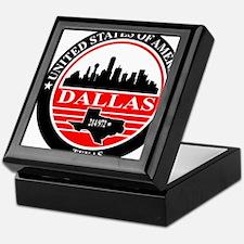 Dallas logo black and red Keepsake Box