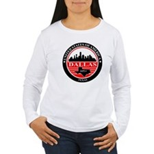 Dallas logo black and red Long Sleeve T-Shirt