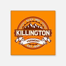 "Killington Tangerine Square Sticker 3"" x 3"""