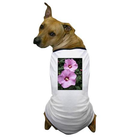 Pink Rose of Sharon Dog T-Shirt