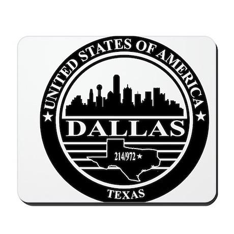 Dallas logo black and white Mousepad