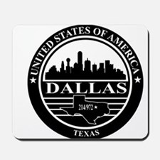 Dallas logo black and white Mousepad
