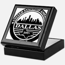Dallas logo black and white Keepsake Box