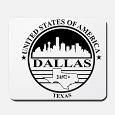 Dallas logo white and black Mousepad