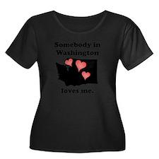 Somebody In Washington Loves Me Plus Size T-Shirt