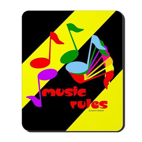 Music Rules Mousepad