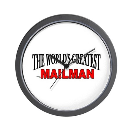 """The World's Greatest Mailman"" Wall Clock"