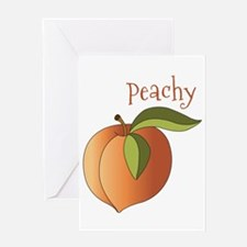 Peachy Greeting Card