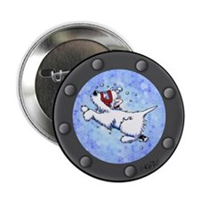 "Snorkel Westies 2.25"" Button"