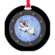 Snorkel Westies Ornament