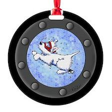 Snorkel Westies Round Ornament