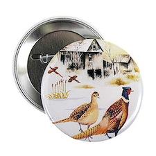 """Pheasants at the Farm 2.25"""" Button"""