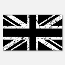 """Black Union Jack"" Rectangle Decal"