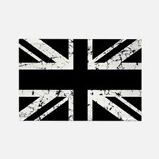 """Black Union Jack"" Rectangle Magnet"