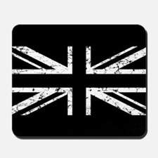 """Black Union Jack"" Mousepad"