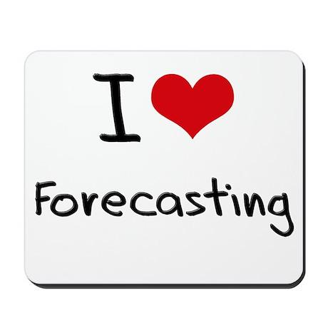 I Love Forecasting Mousepad