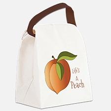 Lifes A Peach Canvas Lunch Bag