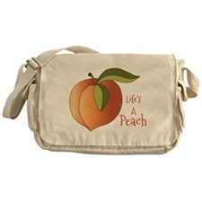 Lifes A Peach Messenger Bag