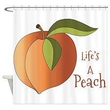 Lifes A Peach Shower Curtain