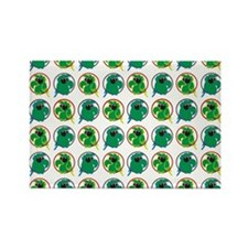 Green Parrots Rectangle Magnet