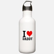 """Your Own Text """"I Heart"""" Water Bottle"""
